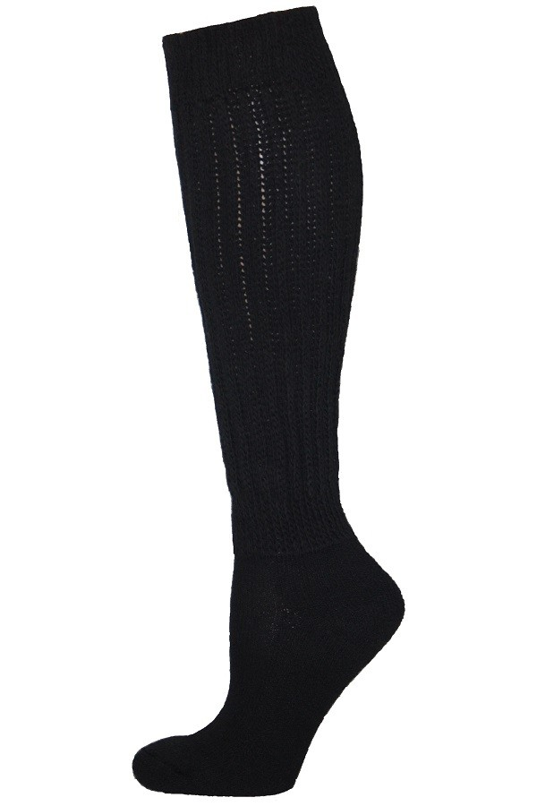 6 Pairs School socks BLACK Socks KNEE HI Socks Long size XL 9-11