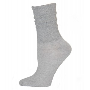 Gray Cotton Slouch Socks - 1 Pair