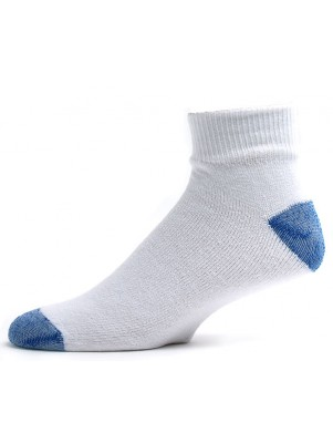 American Made Men's Blue Heal and Toe Quarter Socks - 3 Pairs