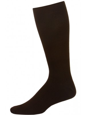 Extra Wide Men's Dress Socks - 1 Pair - Brown