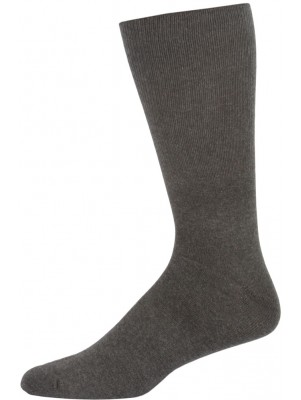 Extra Wide Men's Dress Socks - 1 Pair - Charcoal Grey