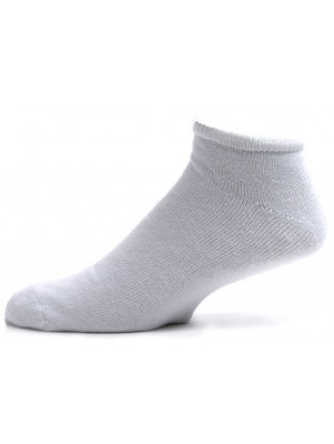American Made Men's King Size White Low Cut Socks - 3 Pairs