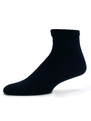 Sole Pleasers Men's Navy Diabetic Quarter Socks - 3 Pairs