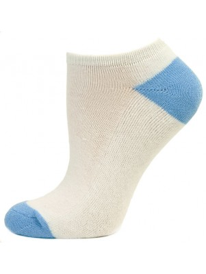 Excell Women's Semi-Cushion Socks - 3 Pairs - White with Blue