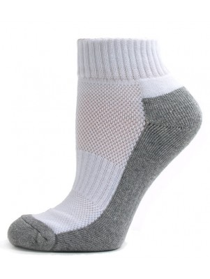 Running Mate Men's Quarter Socks - 3 Pairs - White and Gray