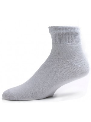 Sole Pleasers Men's King Size White Diabetic Quarter Socks - 3 Pairs