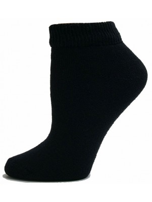 Sole Pleasers Women's Black Low-Cut Diabetic Socks - 3 Pairs