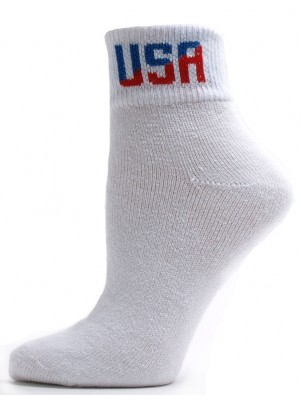 American Made Women's USA Logo Quarter Socks - 3 Pairs