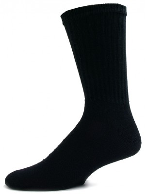 American Made Men's Solid Black Crew Socks - 3 Pairs