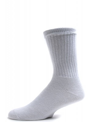 American Made Men's White Athletic Crew Socks - 3 Pairs