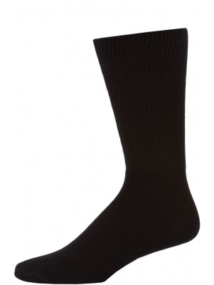 Credos Men's Black Diabetic Crew Socks - 3 Pairs