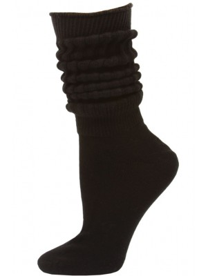 Credos Women's Extra Heavy Slouch Socks - 1 Pair - Black
