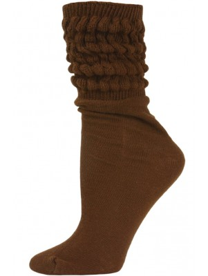 Millennium Women's Slouch Socks - 1 Pair - Brown
