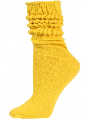 Millennium Women's Slouch Socks - 1 Pair - Old Gold/Yellow