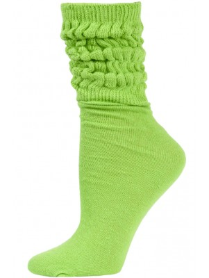 Millennium Women's Slouch Socks - 1 Pair - Lime Green