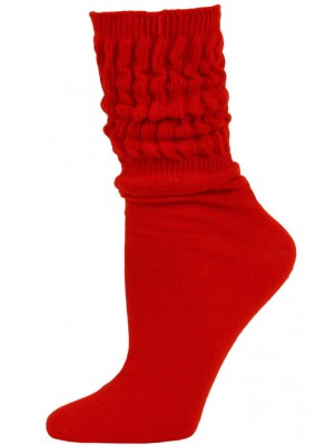 Millennium Women's Slouch Socks - 1 Pair - Red
