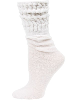 Millennium Women's Slouch Socks - 1 Pair - White