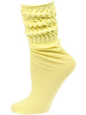 Millennium Women's Slouch Socks - 1 Pair - Light Yellow