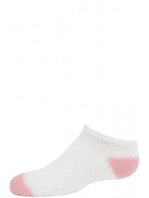 American Made Kid's Light Pink Heel and Toe Low Cut Socks - 3 Pairs