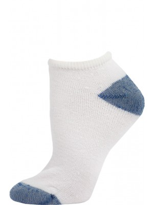 American Made Women's Royal Blue Heel and Toe Low Cut Socks - 3 Pairs