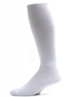 Pro-Trek Men's King Size White Over the Calf Crew Socks - 3 Pairs