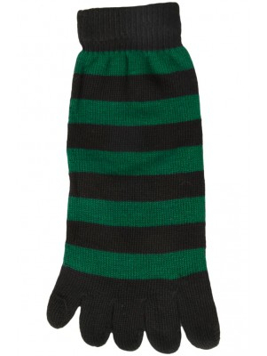 Funny Feet Bright Stripe Toe Socks - 1 Pair - Green/Black