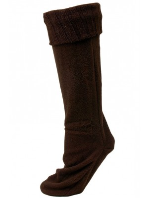 Chatties Women's Rainboot Liner Socks - 1 Pair - Brown