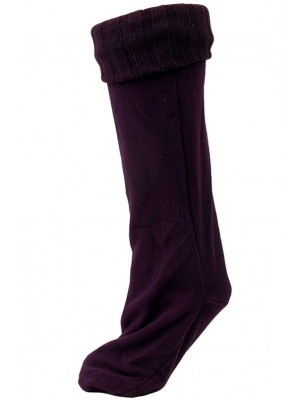 Chatties Women's Rainboot Liner Socks - 1 Pair - Purple