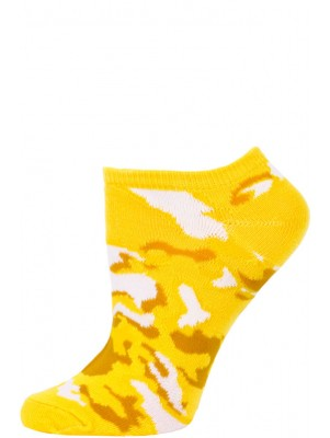 Chatties Women's Camo Print No Show Socks - 1 Pair - Yellow