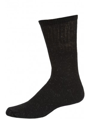 Work Wear Men's Crew Socks - 1 Pair - Black