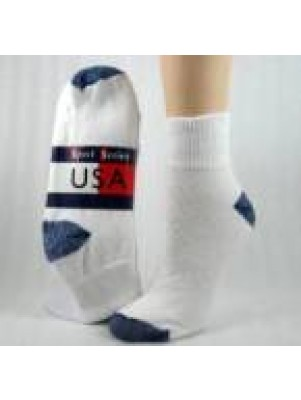 Women's Blue Colored Heel and Toe Quarter Socks - 3 Pairs