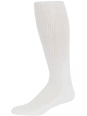 Physician's Choice Men's White Extra Comfort Diabetic Over The Calf Socks - 3 Pair