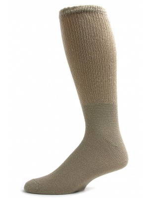Sole Pleasers Men's Tan King Size Diabetic Crew Socks - 3 Pairs