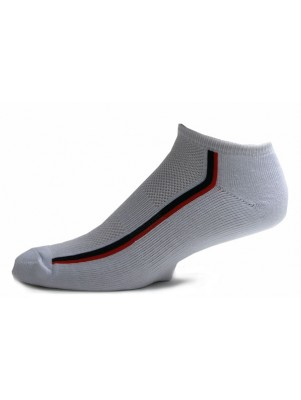 Running Mate Men's Striped Socks - 3 Pairs - White