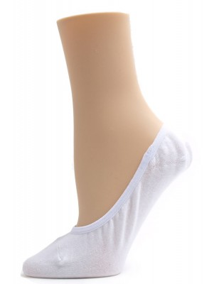 Julietta Solid Colored Liner Socks - 6 Pairs - White