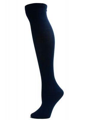 Julietta Women's Solid Colored Knee Socks - 1 Pair - Navy Blue