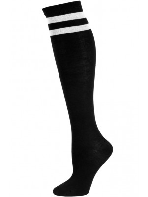 Julietta Bold Retro Stripe Knee Socks - 1 Pair - Black