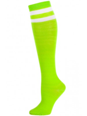 Julietta Bold Retro Stripe Knee Socks - 1 Pair - Lime Green