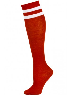 Julietta Bold Retro Stripe Knee Socks - 1 Pair - Red