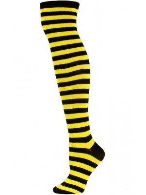 Julietta Women's Striped Over the Knee Socks - 1 Pair - Yellow/Black