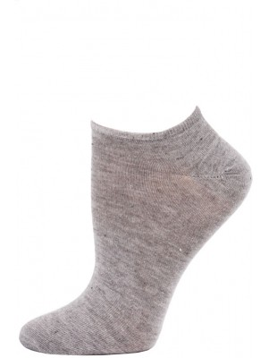 Millennium Women's Low Cut Socks - 3 Pairs - Grey