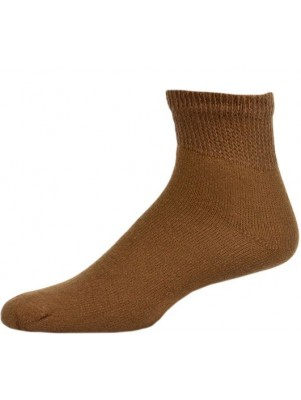 Sole Pleasers Men's King Size Brown Diabetic Quarter Socks - 3 Pairs