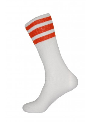 Dream Field Stripe Tube Socks - 4 Pairs - White