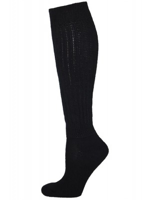 Extra Long, Extra Heavy Black Slouch Socks - 1 Pair