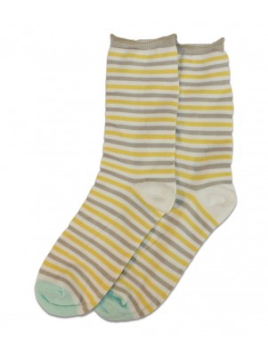 K. Bell Wonderland Stripe Roll Top Crew Socks