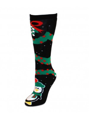 Mistletoe Penguin Slipper Tube Socks