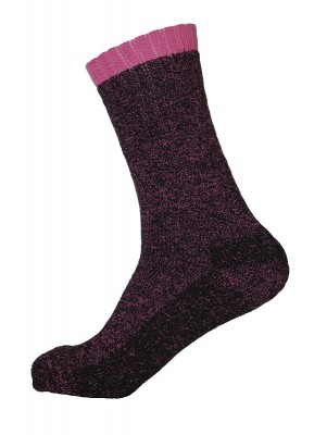 Women's Heated Thermal Socks - Pink - 1 Pair